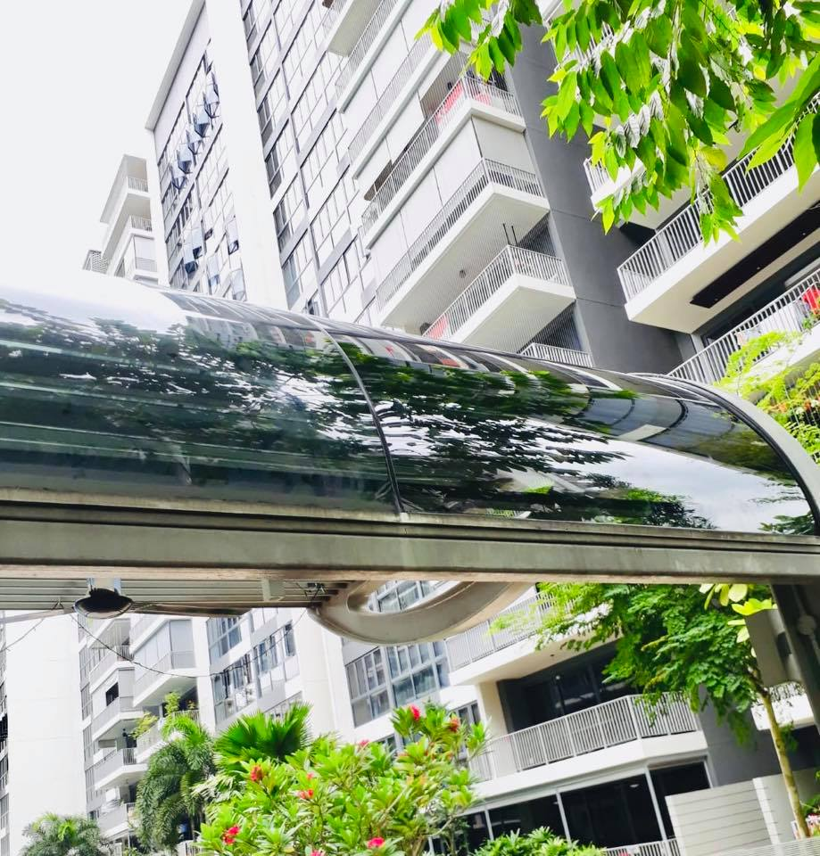 Curved Laminated Glass Canopy