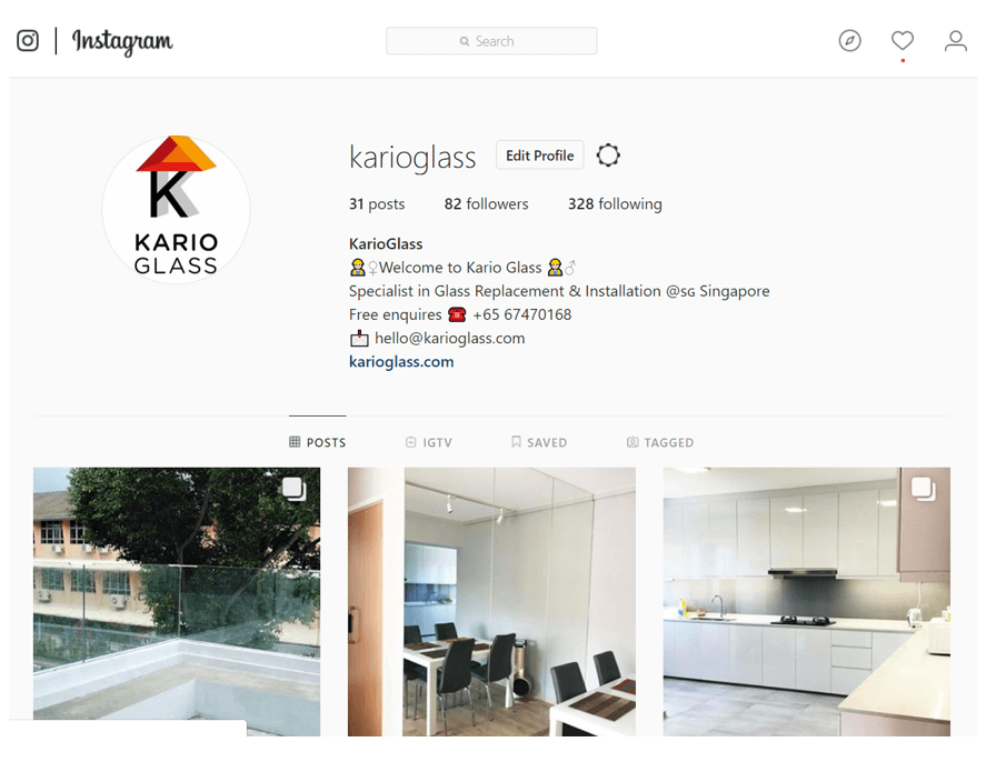 Kario Glass Instagram